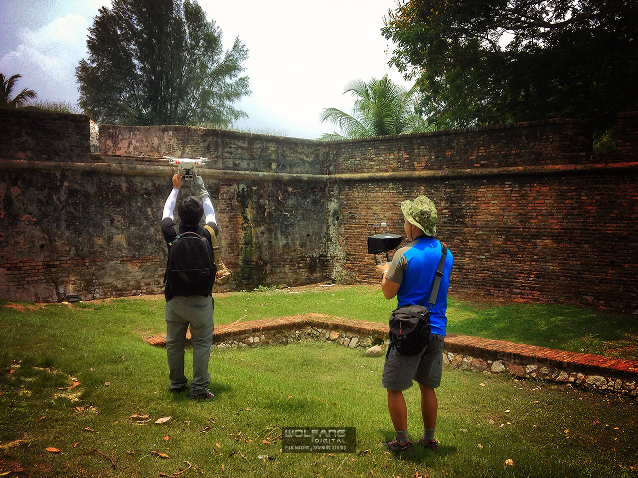 We began our aerial filming at Fort Cornwallis in Georgetown, Penang. 350 Km from our home-base in Kuala Lumpur.