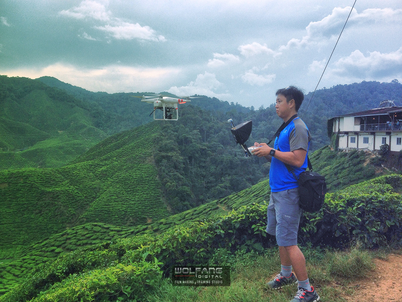 Over 600 Km in a single day to film the tea plantations for Dutch reality game show 'Peking Express'