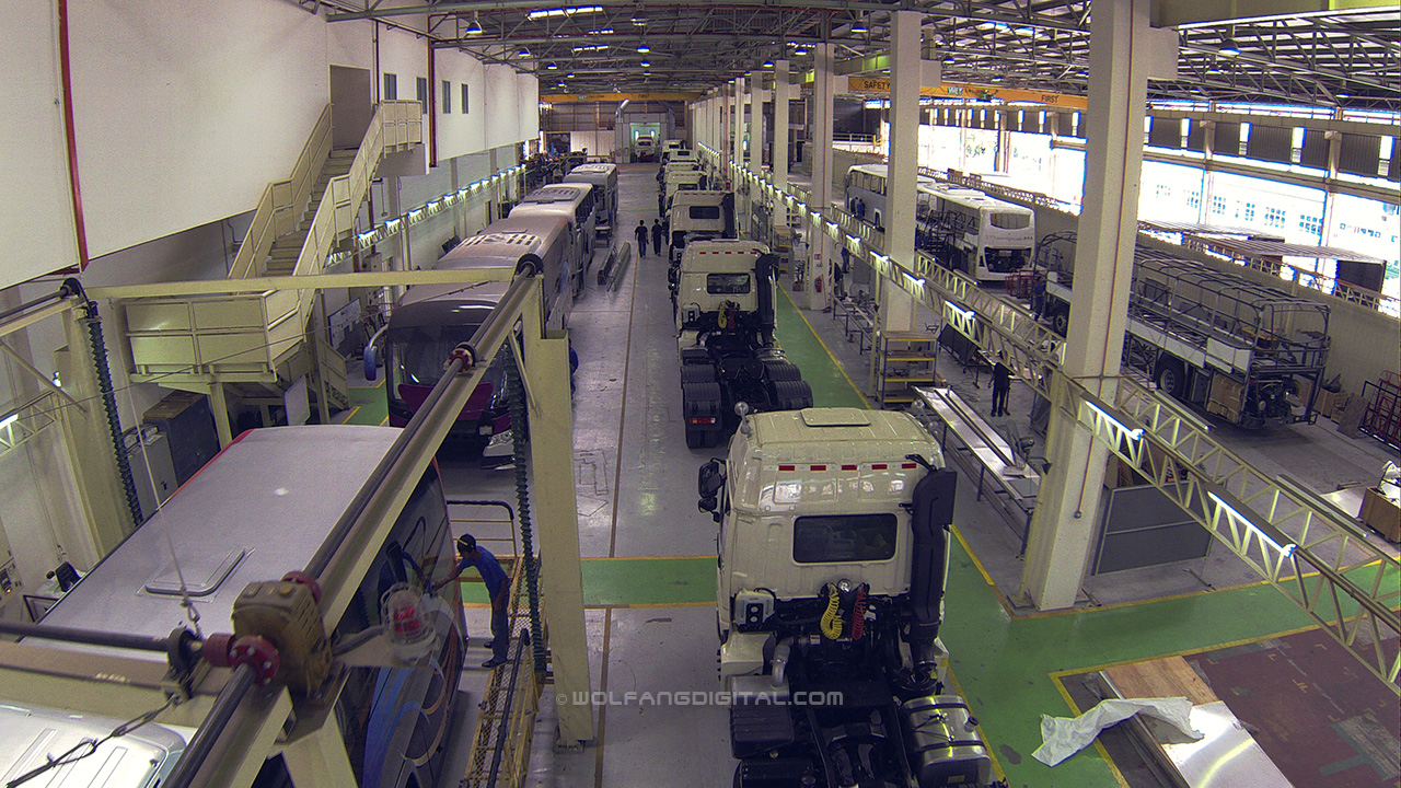 TruckQuip manufacturing plant. Aerial filming video and photo services by WolFang Digital.