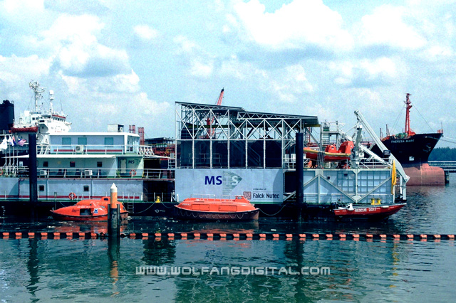 One of the state-of-the-art MSTS Asia training facilities is onboard a ship.