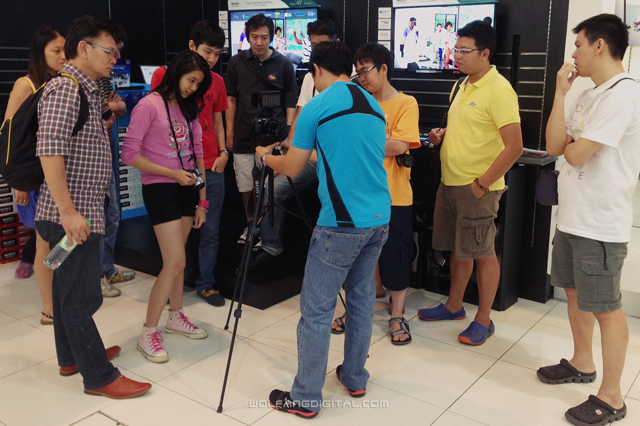 Participants learn how to set-up the camera for basic video interview session.