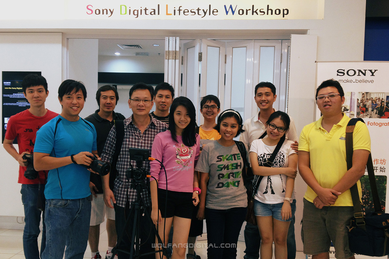 Participants from our 'How to shoot a video interview' Sony Video Workshop.