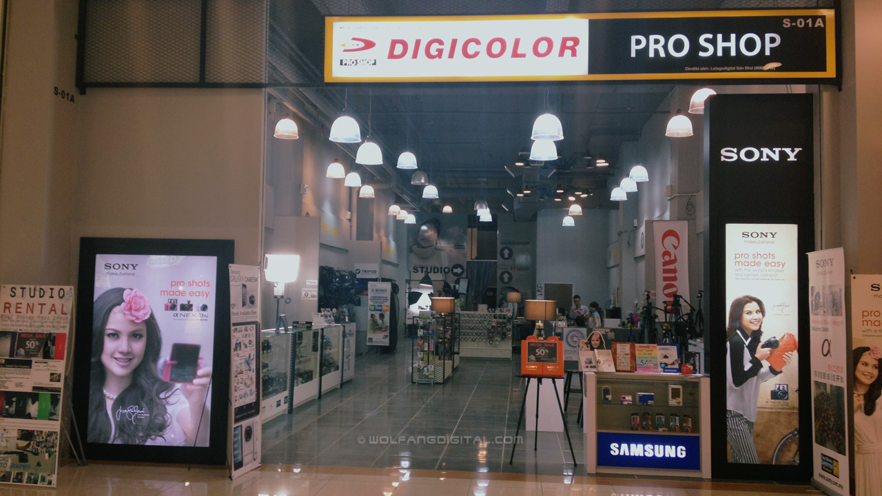 The Sony videography class was held in the well stocked 'Let's Go Digital' shop.