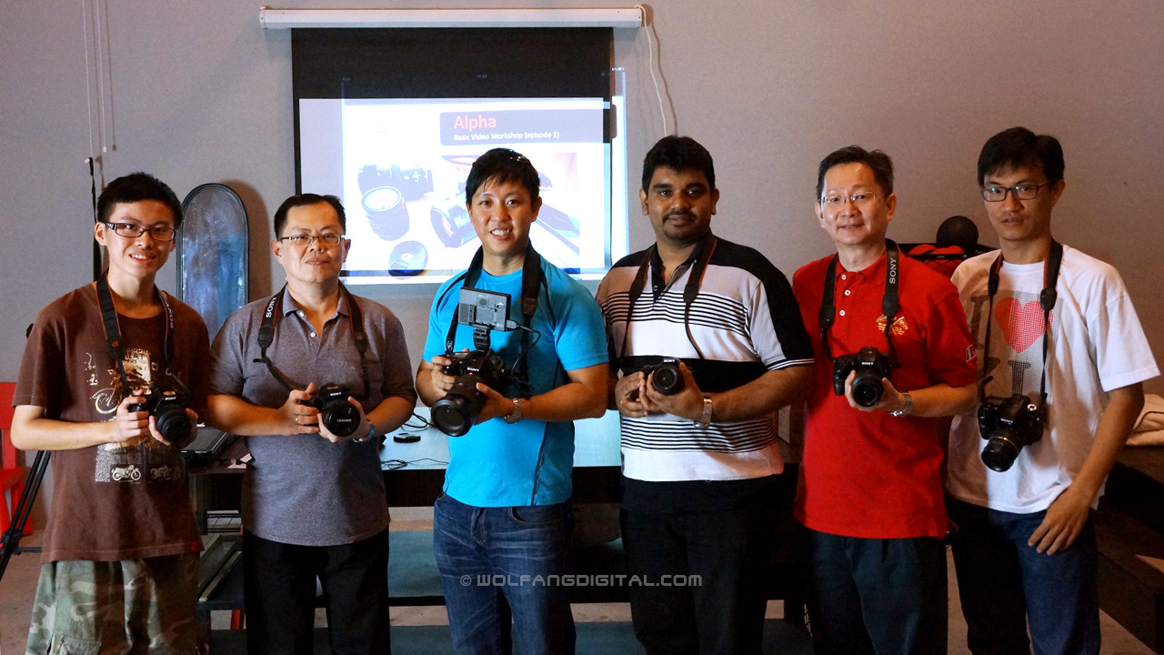 It was a small group but we shared quality time together learning the intricacies that comes with video shooting.