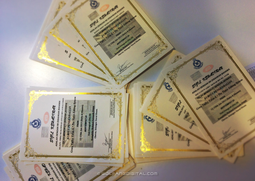 Congrats to all participants. Signing the large volume of certificates took us half an hour!