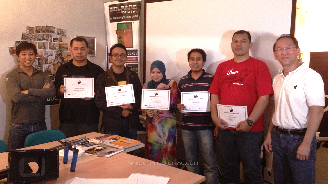 Staff from Attorney General's Chambers graduate from our FCP X and Videography course.