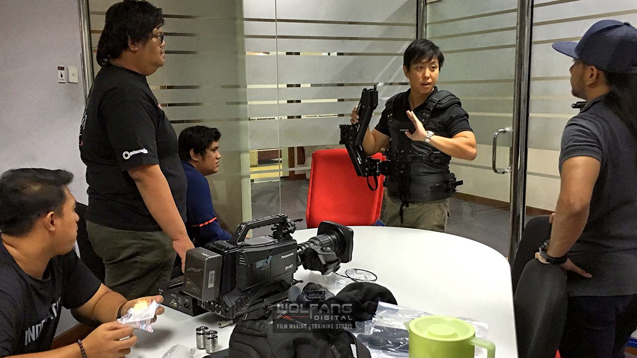 Baron delivers Steadicam theory lessons before the operators get to strap on the gear