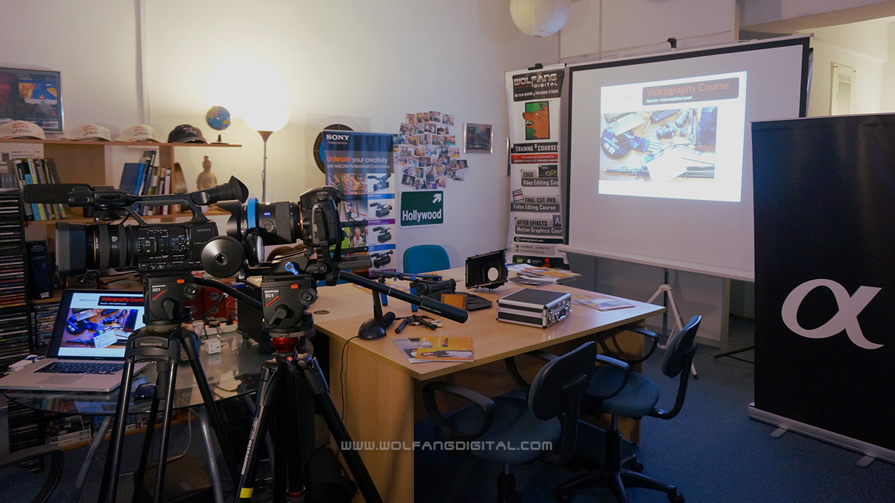 Our studio is all set to teach videography to members of The Attorney General's Chambers.