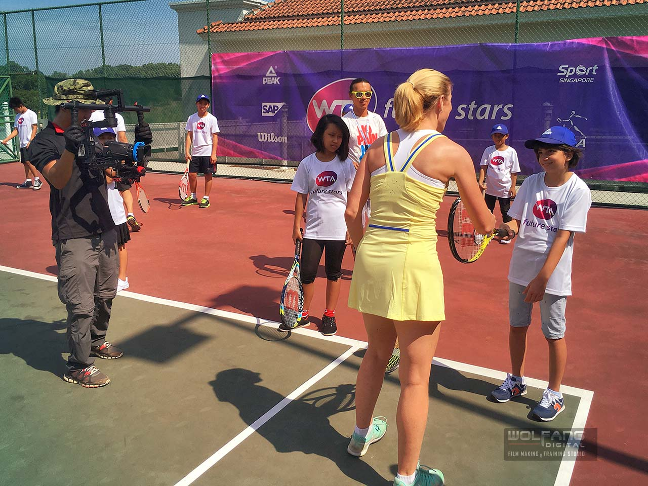 WolFang Digital DJI Ronin gimbal services at World Tennis Association WTA workshop