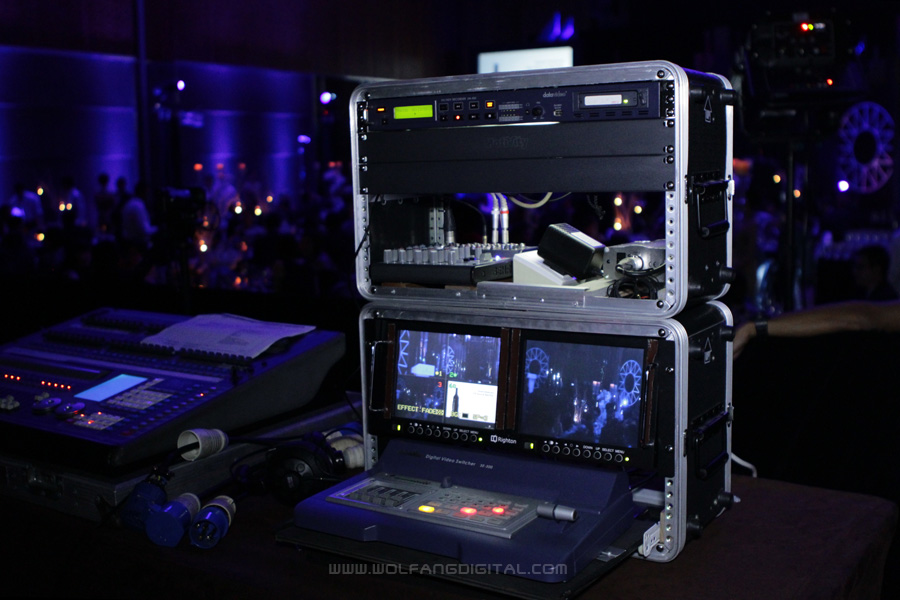 Here is how a video switcher looks like. All of WolFang Digital's video switchers are now Full HD.