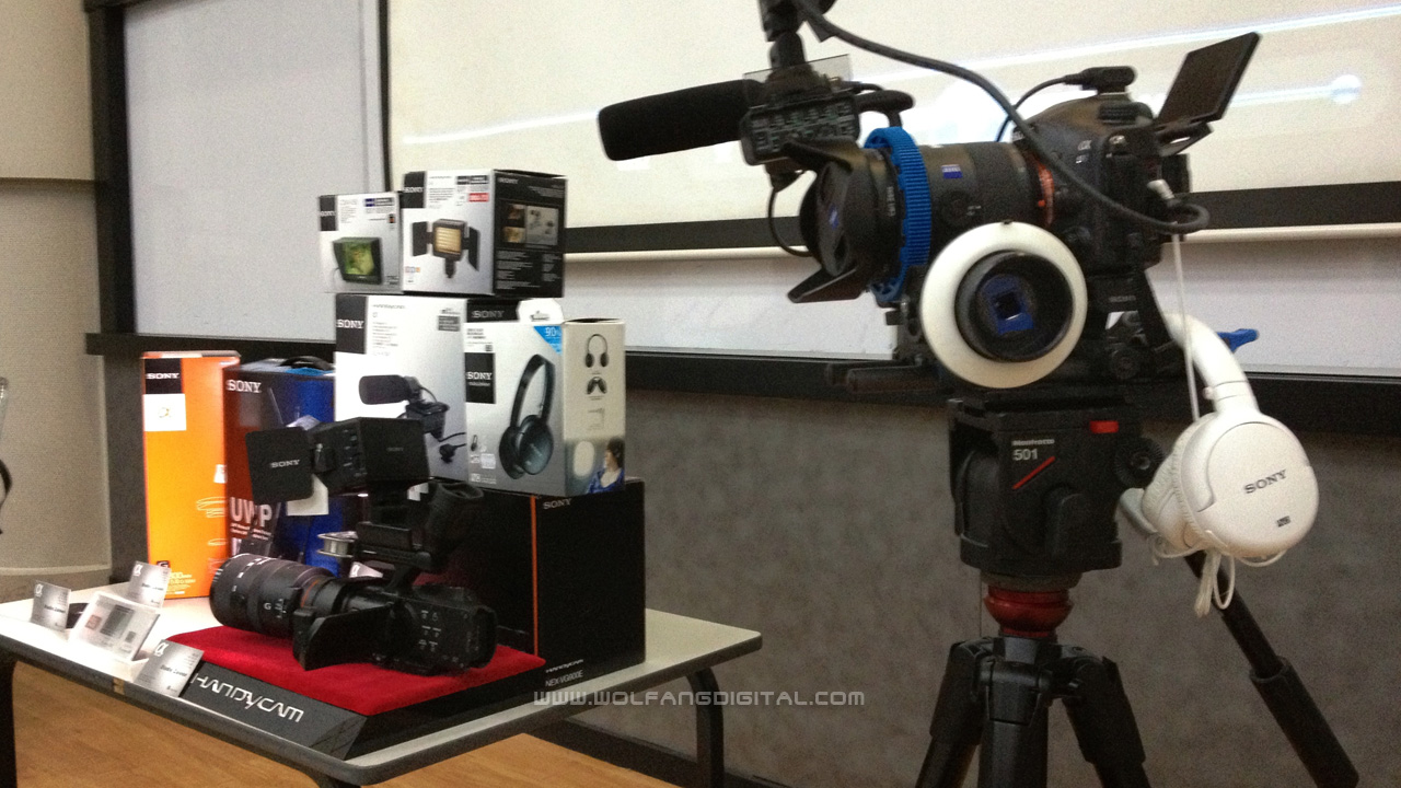 Here is a simpler SLT A99 setup that we use for interviews in video production.