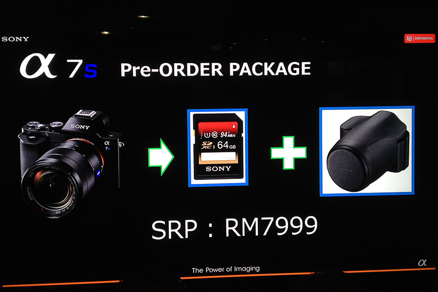The low light king Sony A7s now has a price in Malaysia. Shipping next month.
