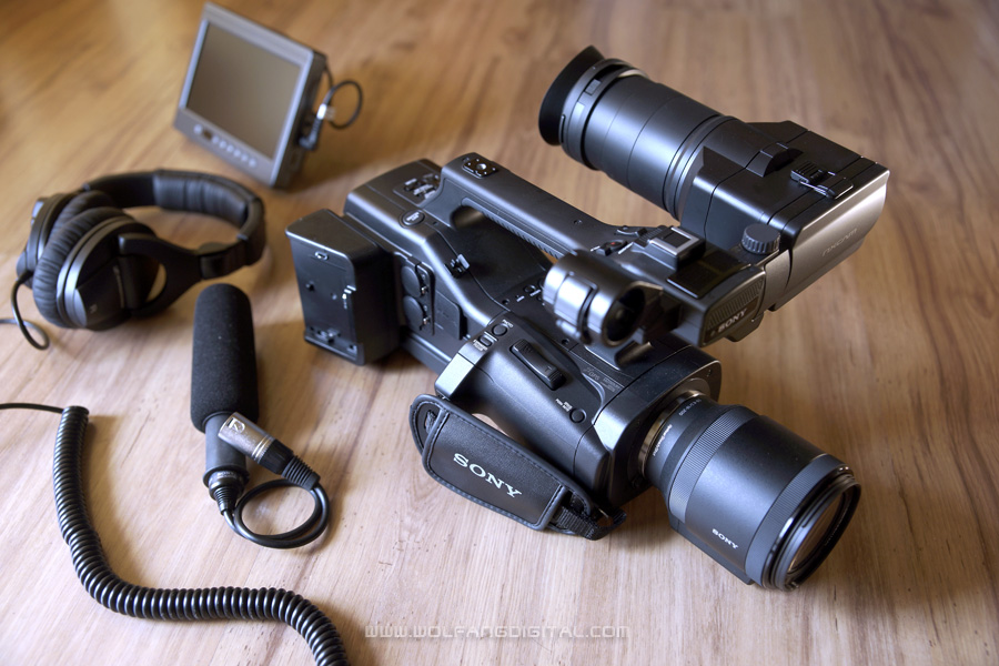 The well designed NEX-EA50. The event videographer's best friend- ergonomic, interchangeable lens, XLR audio!