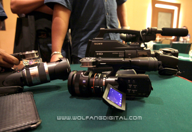 Some of the camcorders that participants brought along included the interchangeable lens NEX-VG20