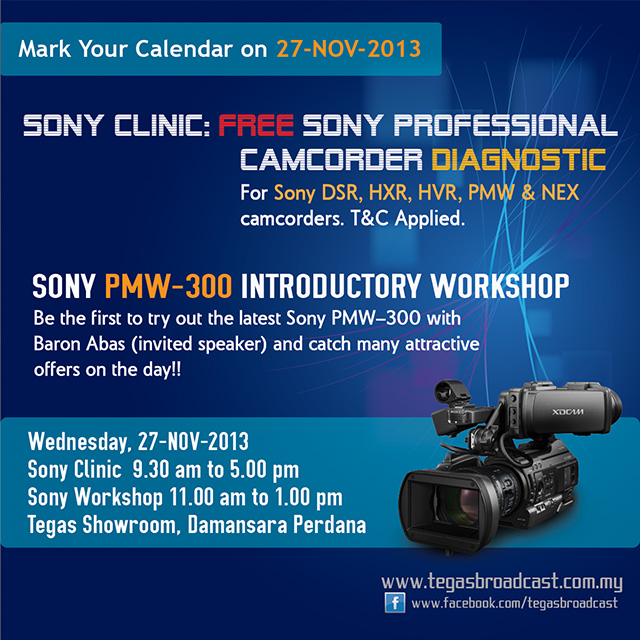 Send your camcorder for a check-up at the Sony Clinic, FREE!