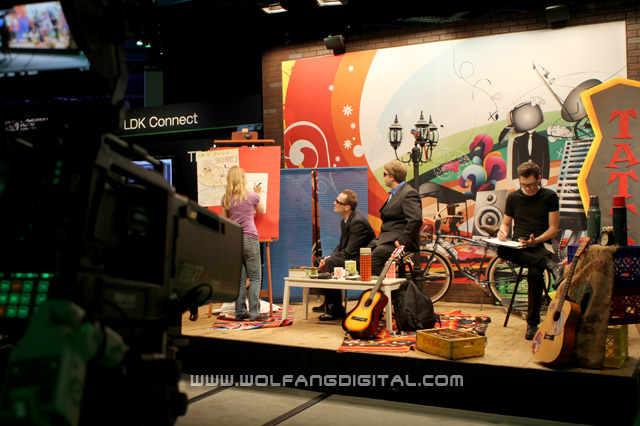 More pics of the live set with LDK studio camera.