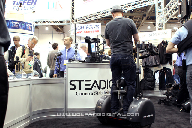 Steadiseg make its first public appearance at NAB 2012. Marvel at how it navigates the narrow space.