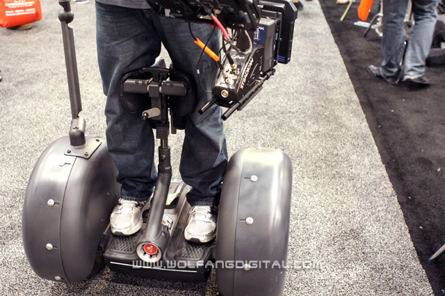 It's a Segway with a Steadicam attached. Keeps you going and going and...