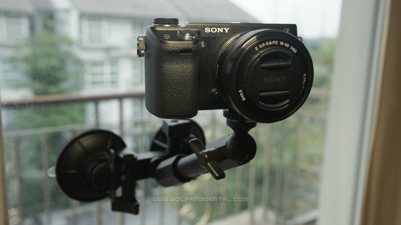 The Sony NEX-6 on a double-suction cup mount will be used in our night driving scenes. It performed significantly better than the GoPro Hero3