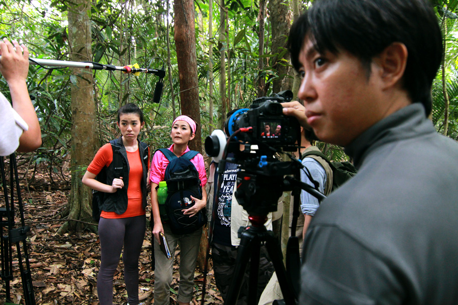 The Sony A99 is right at home in a film making environment, in the middle of a jungle!