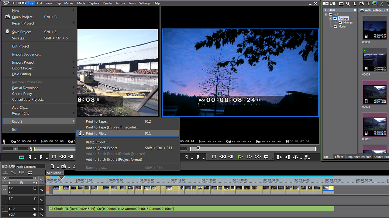 Grass Valley's Edius editing program made it easy to edit a wide variety of video formats.