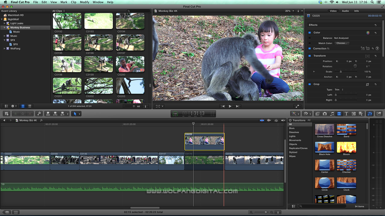 FCPX works great editing with native Sony AX100 4K workflow.