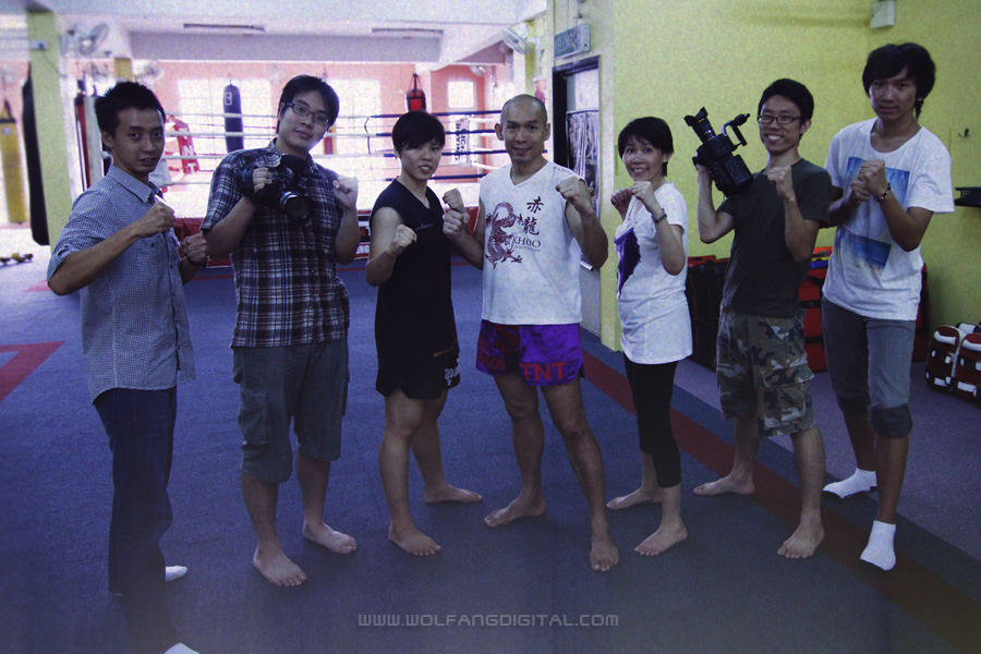 Our videography team with Master Khoo and Ella Tang at TNT Kickboxing.