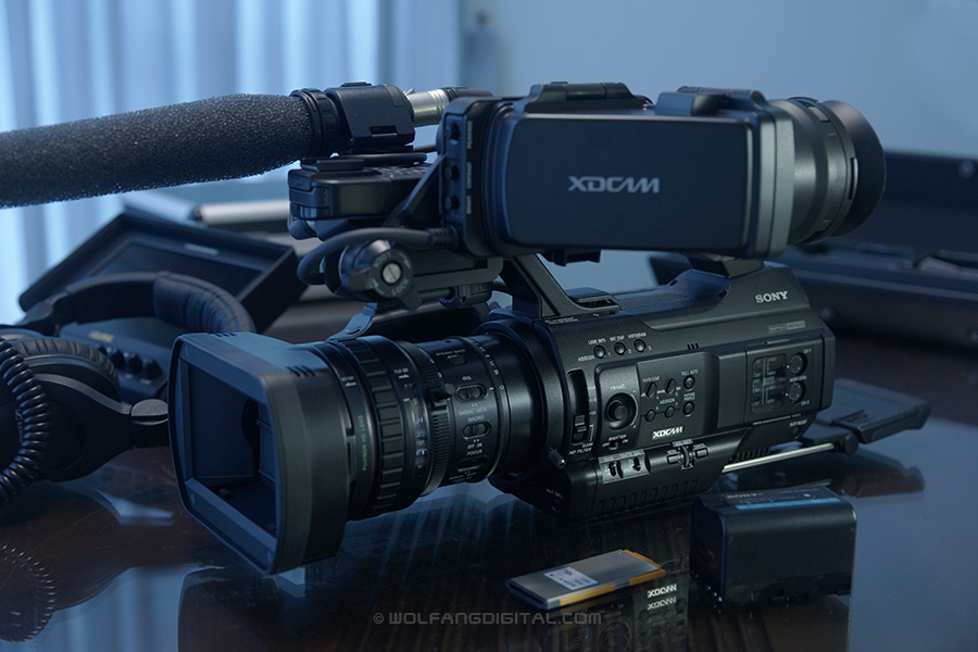 Sony PMW-300 XDCAM camcorder. Perfect for run and gun projects.