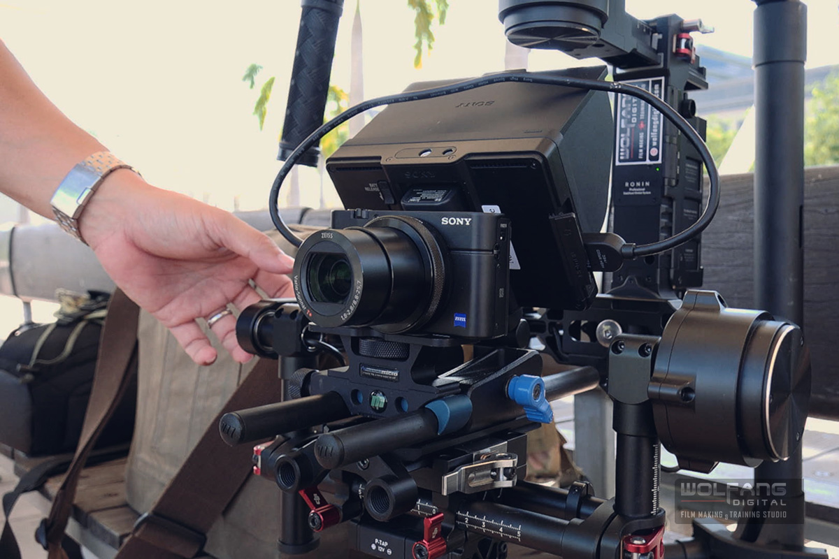 Our rig- a Sony RX100 IV mirrorless 4K camera with 5