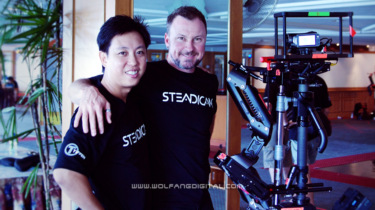 The hectic schedule meant less time to make friends. Gary was an exception; always friendly and always ready with encouragement, this Australian works for One channel shooting sports with his Steadicam Phantom.