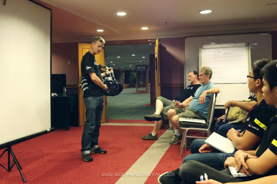 Chris Fawcett gave us an extensive presentation on posture and stressed its importance in Steadicam operating.
