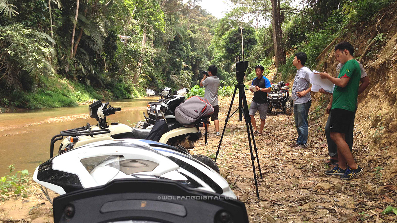 On a recce in the jungle with All Terrain Vehicles (ATV) and the Phantom2 quadcopter