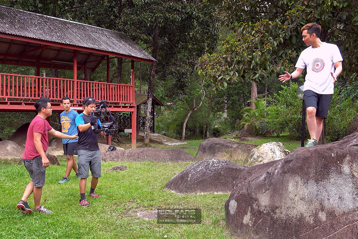 DJI Ronin camera stabilizer operated by a Certified Steadicam Operator in reality show Kampung Quest