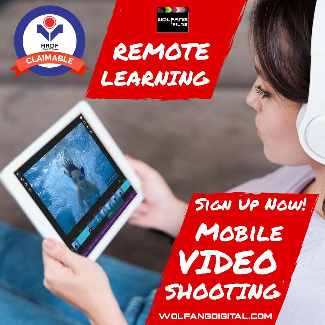 Remote online learning for smartphone mobile video editing course by WolFang Digital