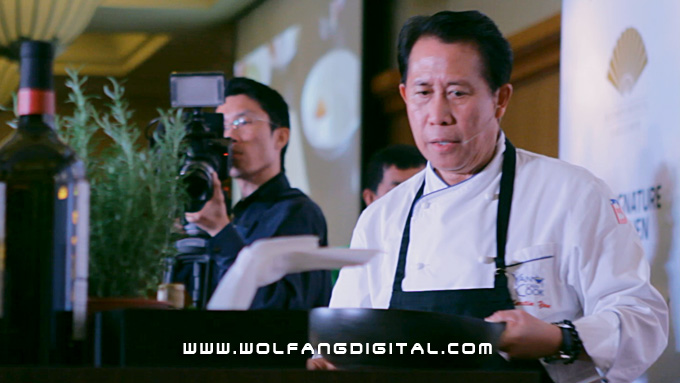 We used the Sony FS100 to film AFC Master Chef Martin Yan's cooking demonstration.