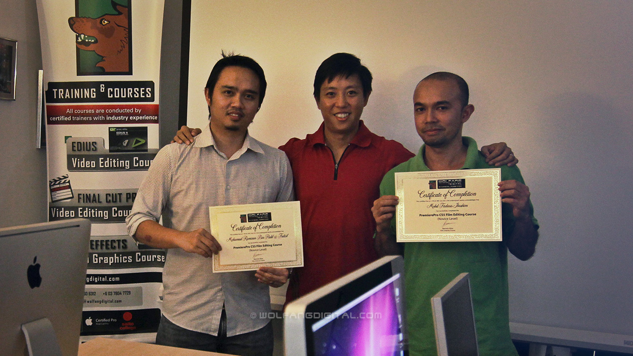 Celcom Axiata staff graduate from our Premiere Pro video editing course