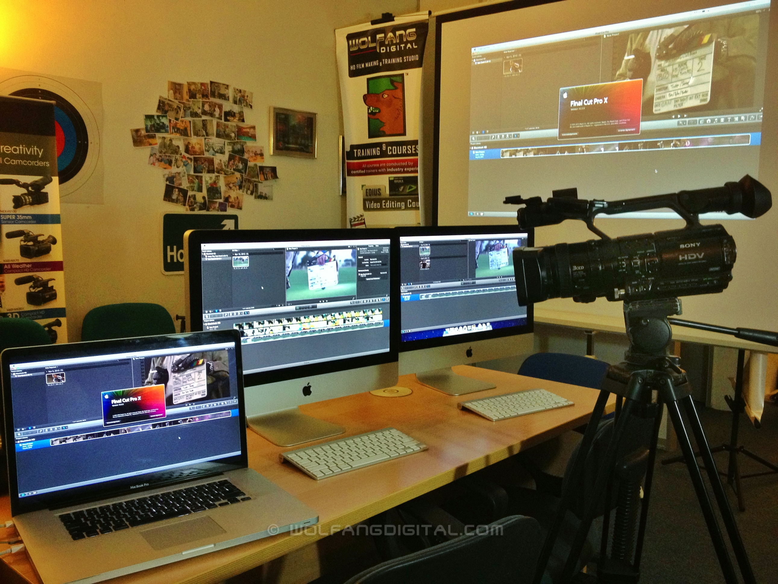 Premiere Pro, FCP X, Vegas, Edius, Video Editing Courses at WolFang Digital