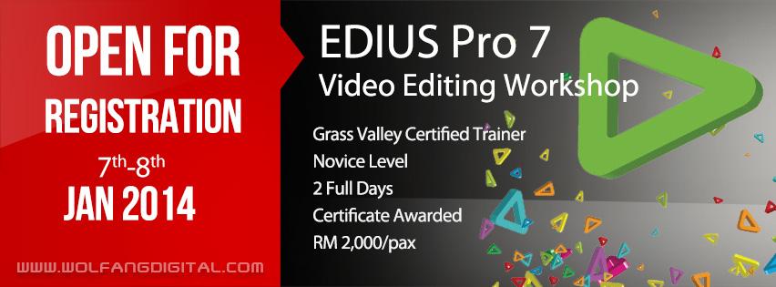 Edius Video Editing Training Course 2014