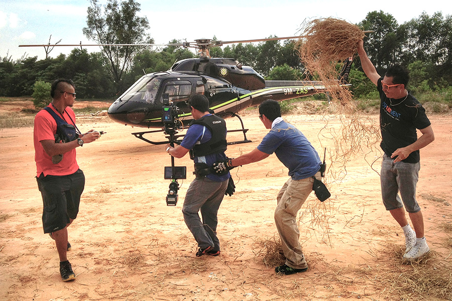 Baron- Steadicam operator filming helicopter