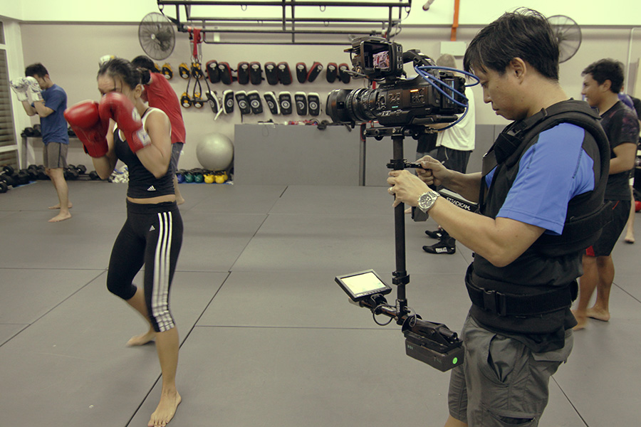 Sony PMW300 on Steadicam Pilot