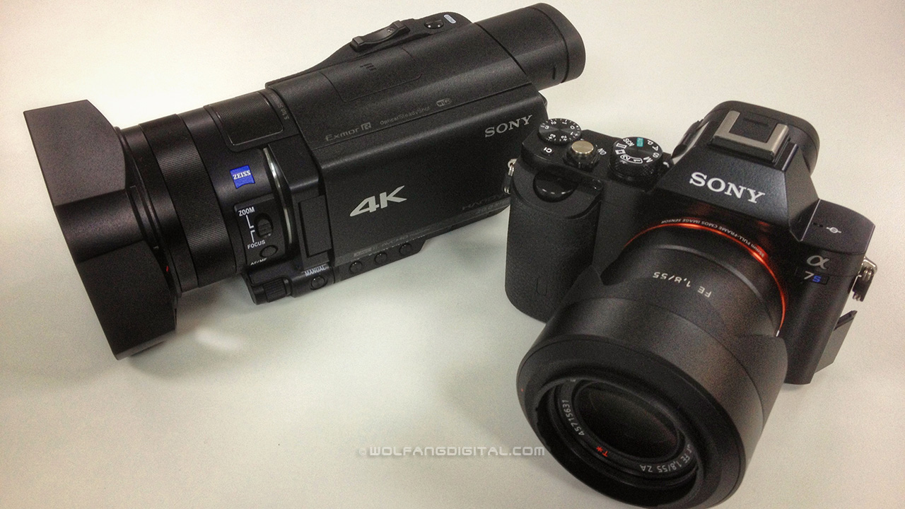 Sony AX100 4K handycam and A7s