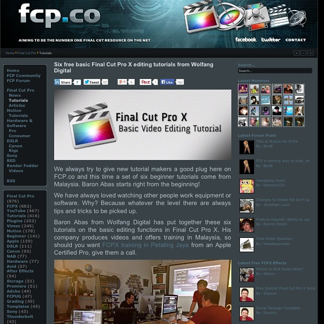 Our video editing tutorials are featured on well respected site FCP.co #fcpx #finalcutprox #videoeditor #videoediting http://www.fcp.co/final-cut-pro/tutorials/1507-six-basic-final-cut-pro-x-editing-tutorials-from-wolfang-digital