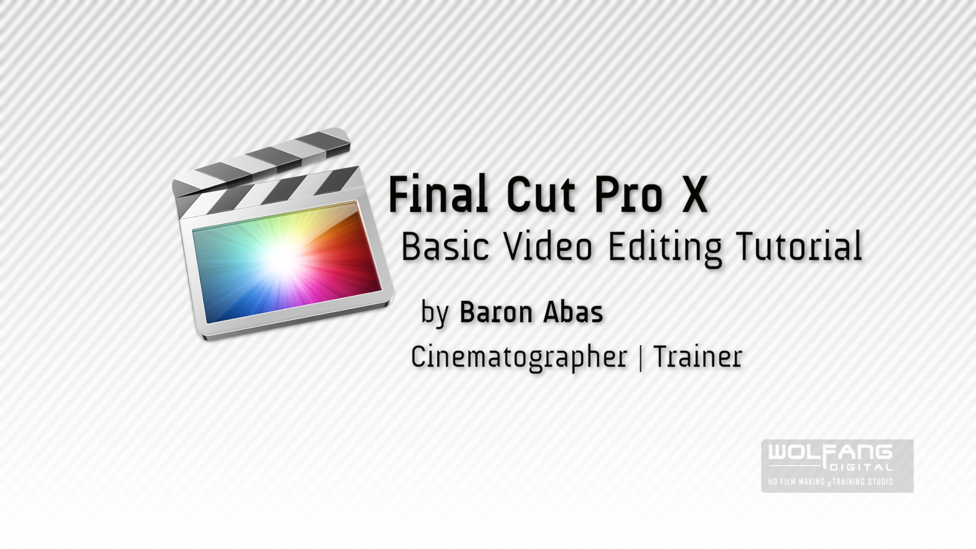 Learn how to edit videos with FCP X