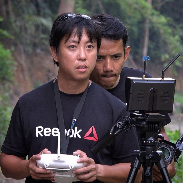 Producer's watching really closely. Must... not... crash... drone! #kampungquest #drone #aerialvideography #adventure #phantom2 @djiglobal #filmmaking #filmlife #onset #onlocation
