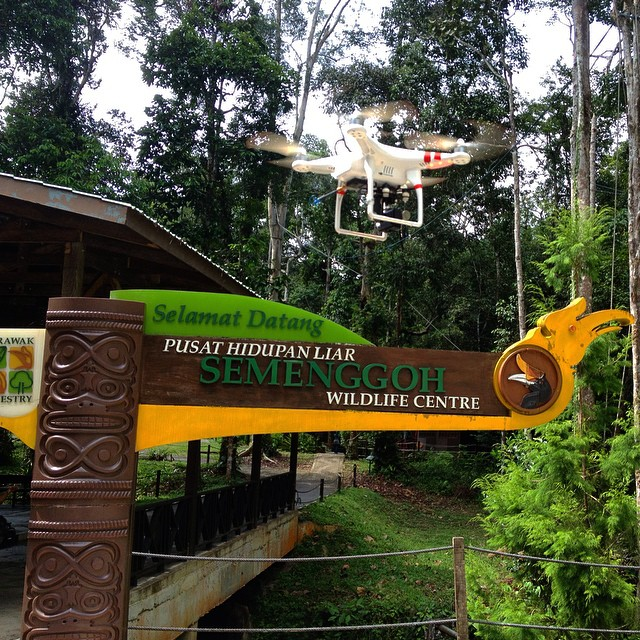Another exciting day, another wildlife center #wildlife #documentary #filmmaking #drone #dronie #goprohero #borneo