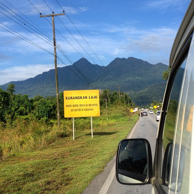 With the Serapi mountain range close by, we are heading off to Matang Wildlife Center #wildlife #documentary #filmmaking