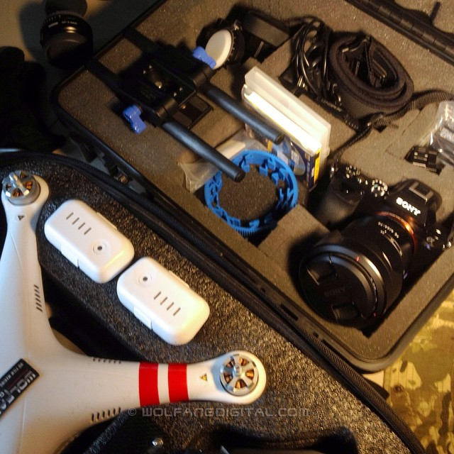 Off to Thailand for wildlife documentary shoot and in my gear case is the awesome king of low light #sonya7s in the air I have the #drone #djiphantom2 and #goprohero3 #gopro #filmlife #filmmaking #onlocation #a7s