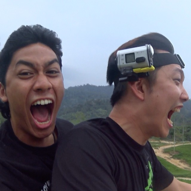 2 loco friends ride an ATV together. Havoc is what ensues. Short film coming up this week! #kampungquest #adventure #bff #allterrain #sony #as100 #actioncam #povcam