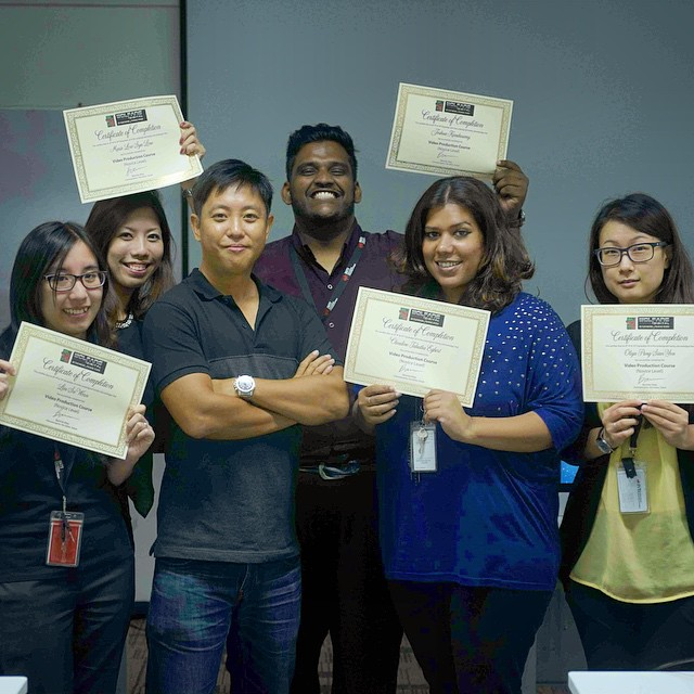 You make me proud. Those #videography certs were not easy to earn. Congrats to the team at INTI International College #videoproduction #training #filmmaking #collegelife