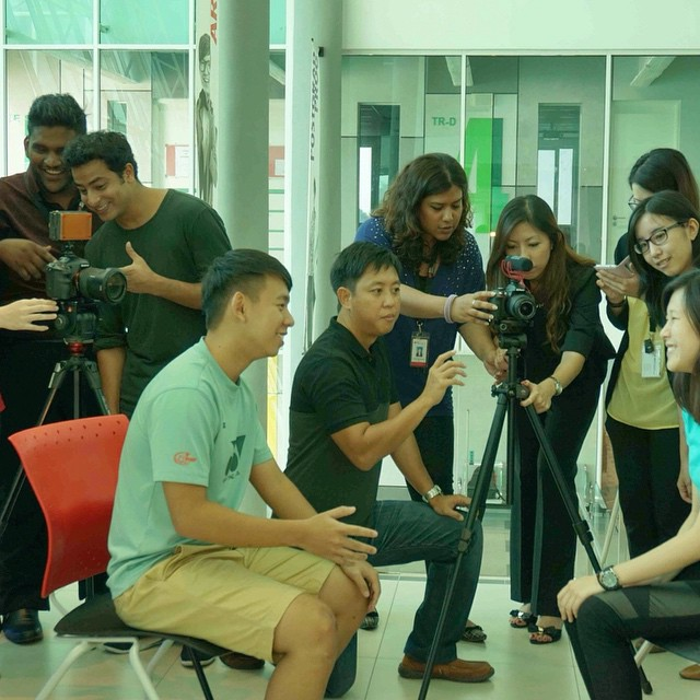 It was a fun week teaching #videography to the already talented team at INTI International College #college #filmmaking #cinematography